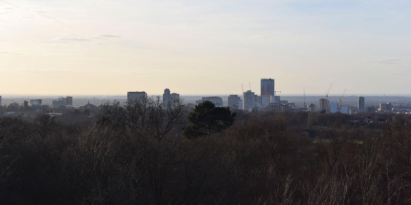 Croydon Addington Hills view of Croydon