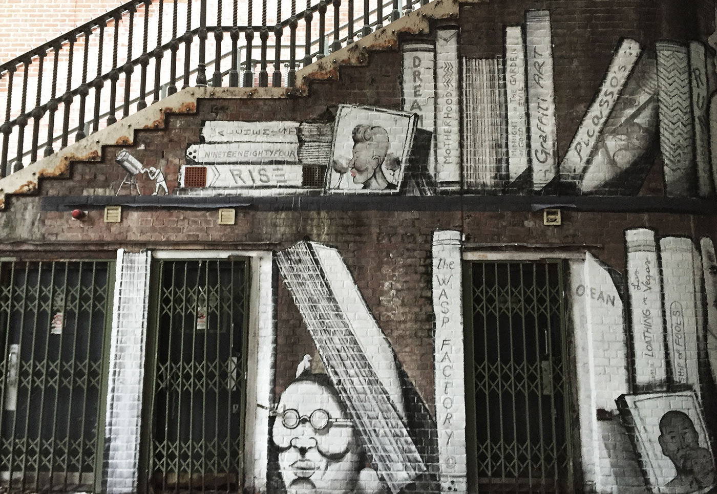 RUN book mural art, Surrey Street, Croydon