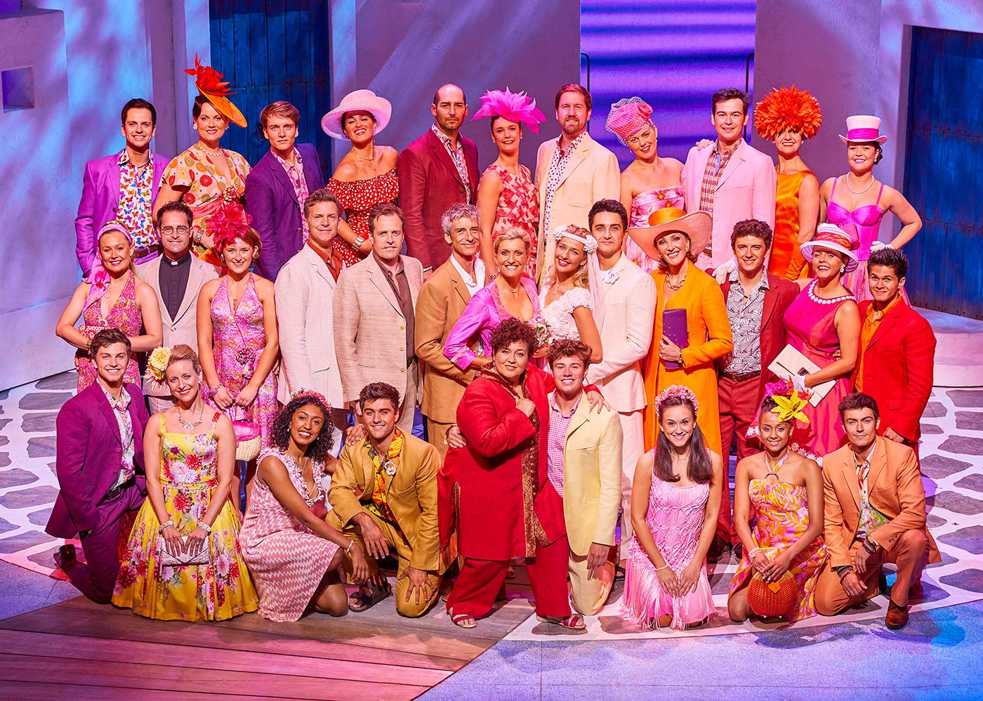Cast of Mamma Mia. Photo by Brinkhoff Mögenburg