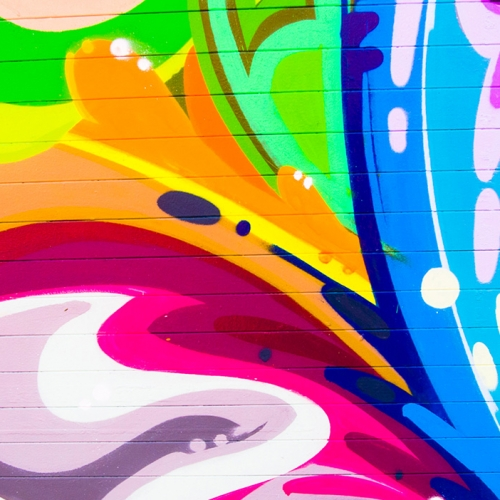 Streets of art, waves of colour