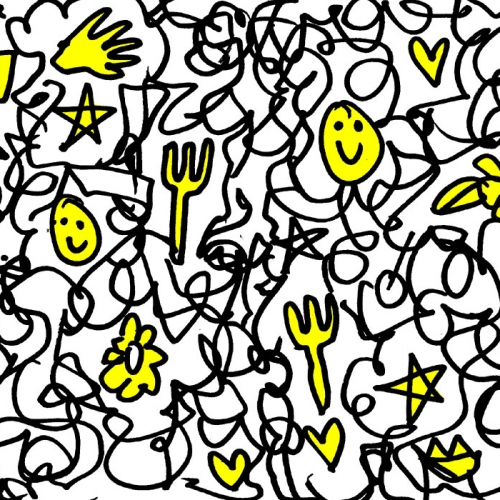 Eat, doodle and be merry