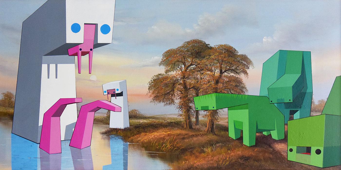 Virtual art gallery: James Oliver
