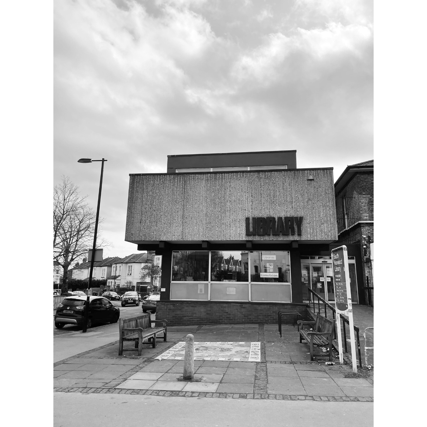 South Norwood brutalist library