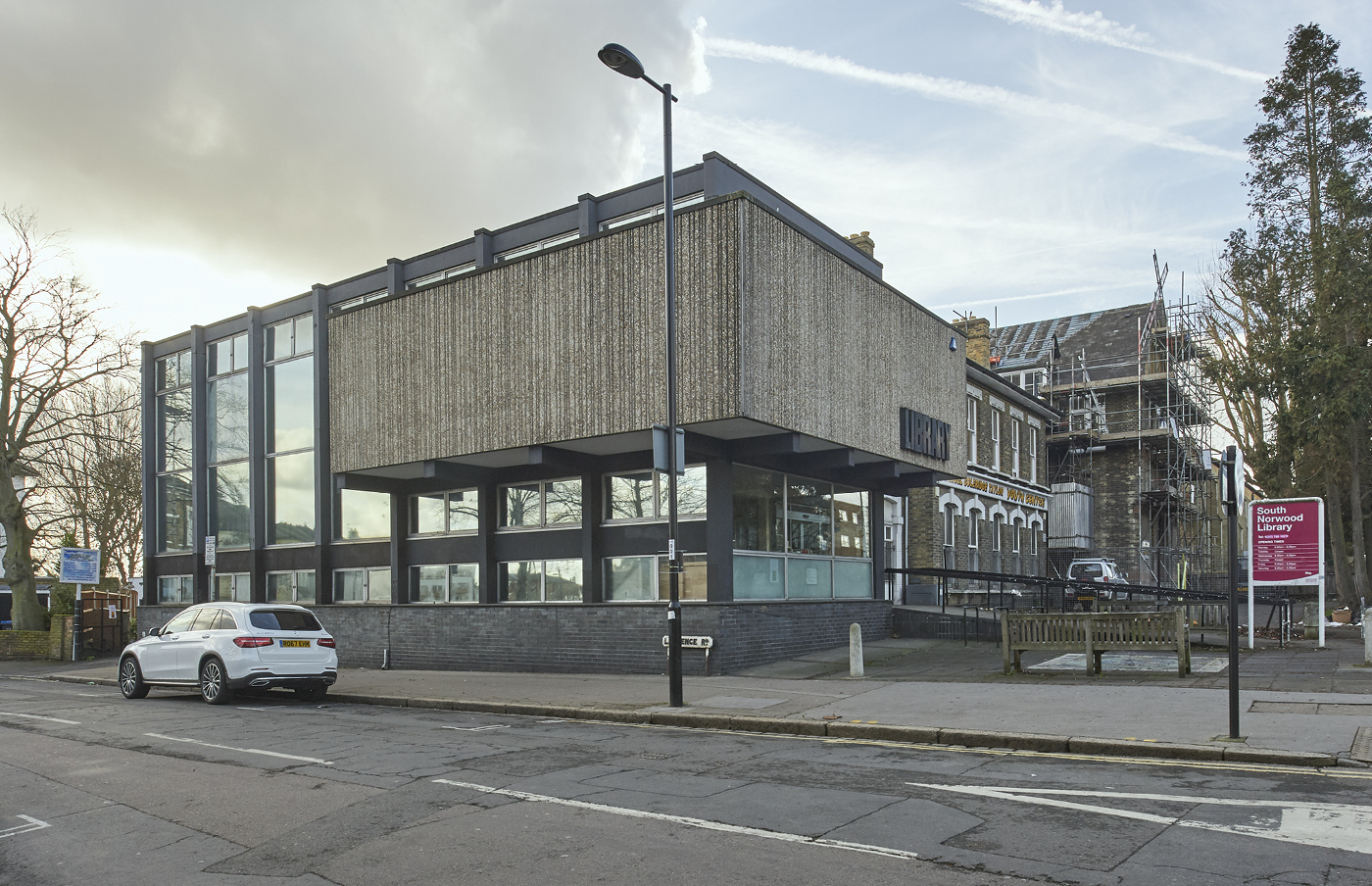 South Norwood brutalist library: Jo Underhill